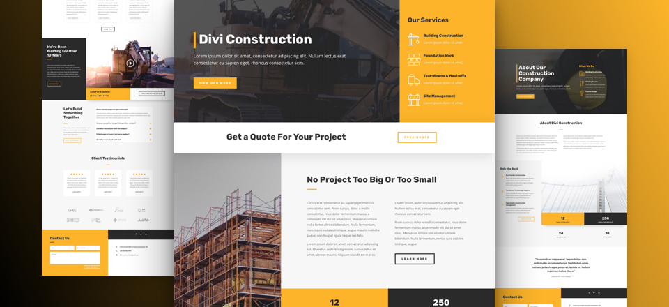 Company Layout Pack for Divi