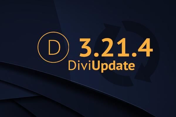 Divi Theme Update 3.21.4