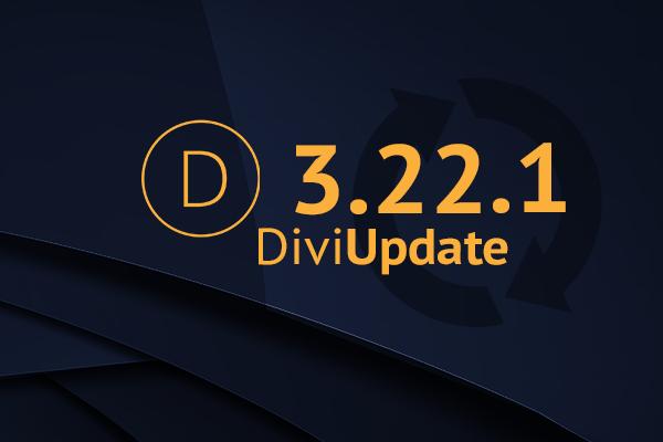 Divi Theme Update 3.22.1
