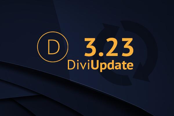 Divi Theme Update 3.23