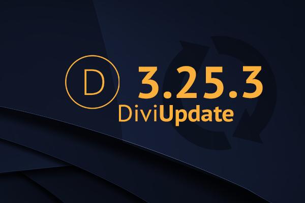 Divi Theme Update 3.25.3
