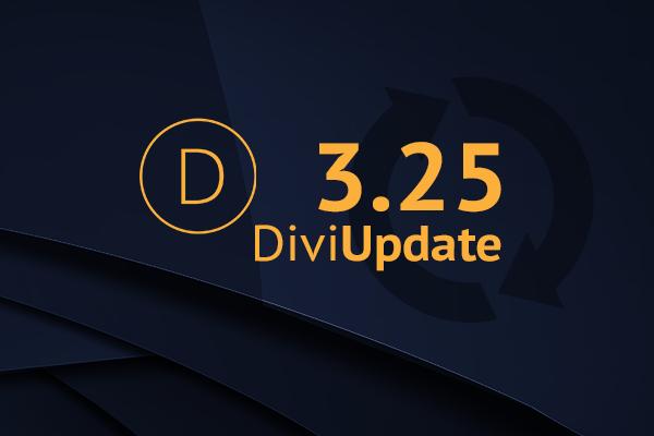 Divi Theme Update 3.25
