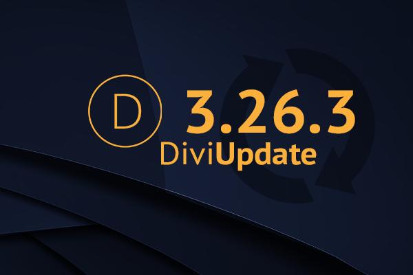 Divi Theme Update 3.26.3