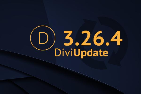 Divi Theme Update 3.26.4