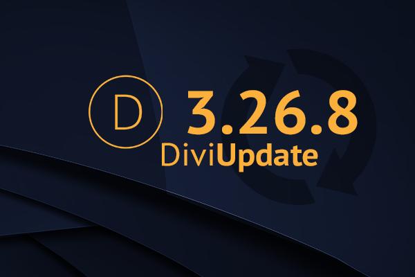 Divi Theme Update 3.26.8