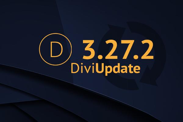 Divi Theme Update 3.27.2