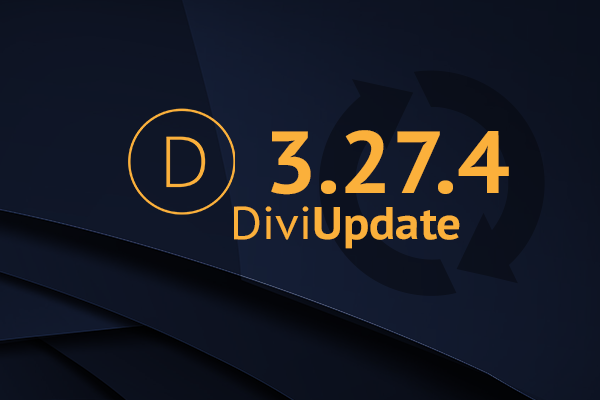 Divi Theme Update 3.27.4