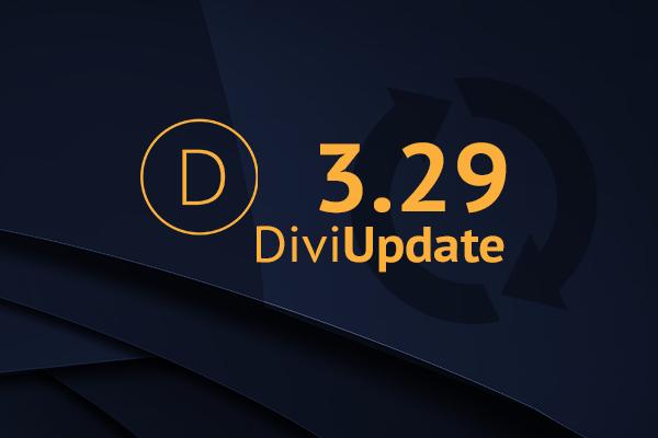 Divi Theme Update 3.29