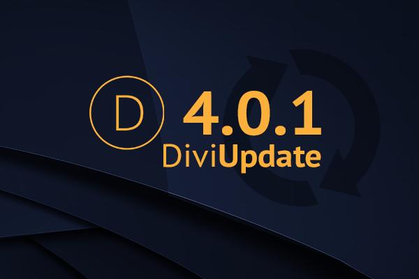 Divi Theme Update 4.0.1