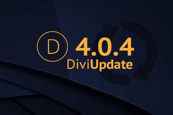 Divi Theme Update 4.0.4