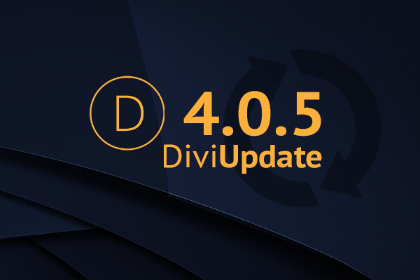 Divi Theme Update 4.0.5