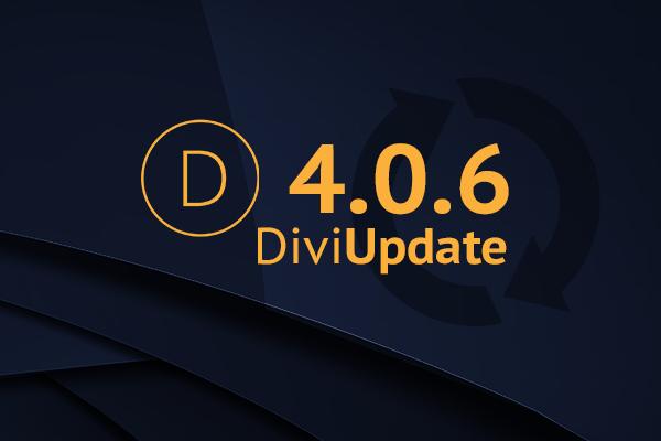 Divi Theme Update 4.0.6