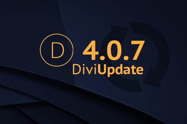 Divi Theme Update 4.0.7