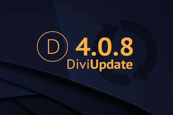 Divi Theme Update 4.0.8
