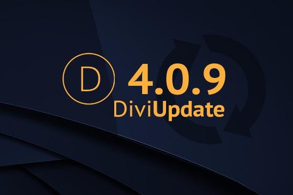 Divi Theme Update 4.0.9