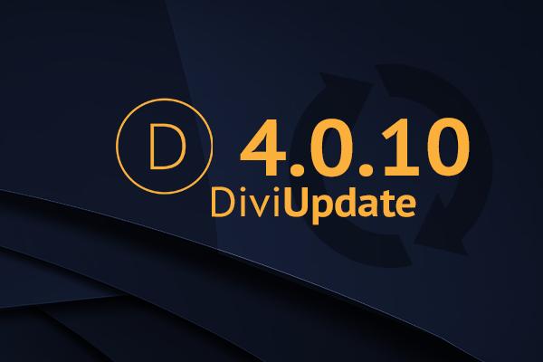 Divi Theme Update 4.0.10