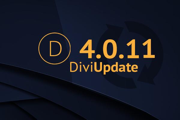 Divi Theme Update 4.0.11