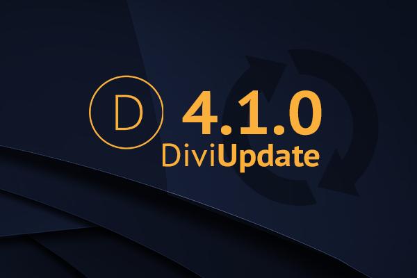 Divi Theme Update 4.1.0