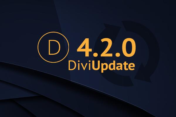Divi Theme Update 4.2.0