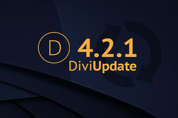 Divi Theme Update 4.2.1