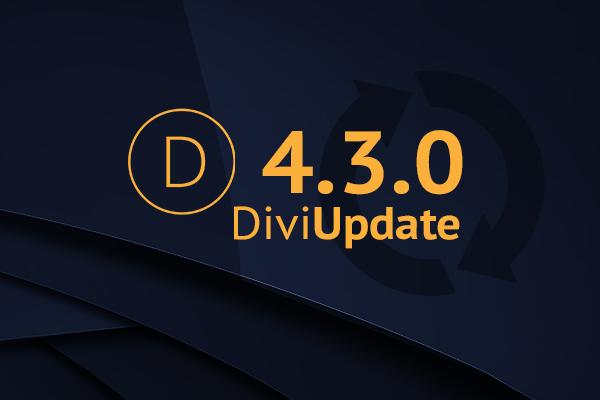 Divi Theme Update 4.3.0