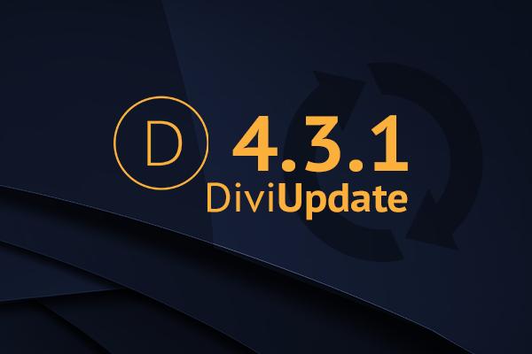 Divi Theme Update 4.3.1