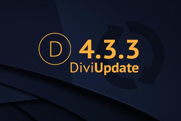 Divi Theme Update 4.3.3