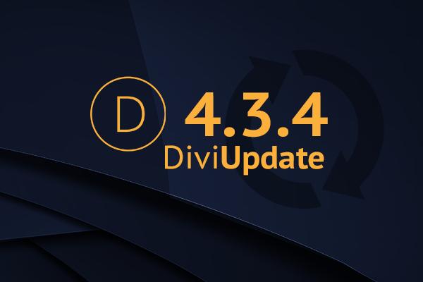 Divi Theme Update 4.3.4