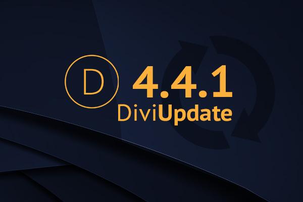 Divi Theme Update 4.4.1