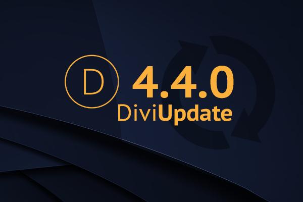 Divi Theme Update 4.4.0
