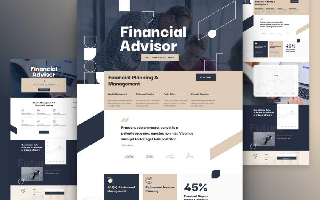 Kostenloses Layout Pack für Finanzberatung