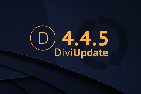 Divi Update 4.4.5