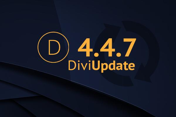 Divi Update 4.4.7