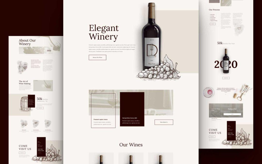 Kostenloses Layout Pack für eine Weinkellerei
