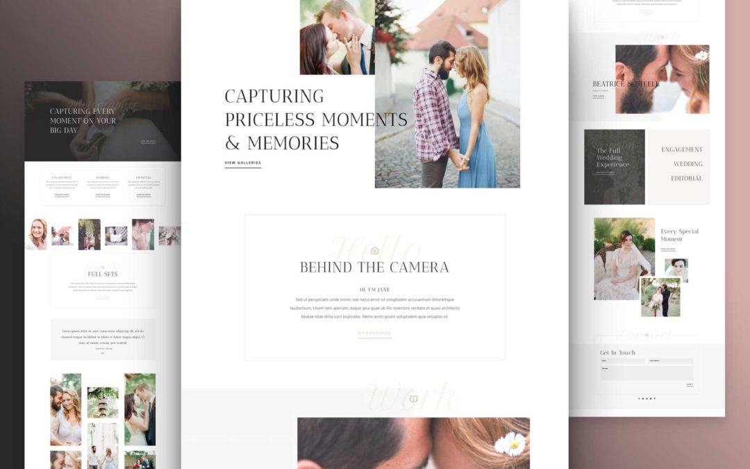 Kostenloses Layout Pack für Hochzeitsfotografie
