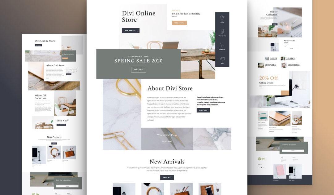 Kostenloses Online-Shop Layout Pack