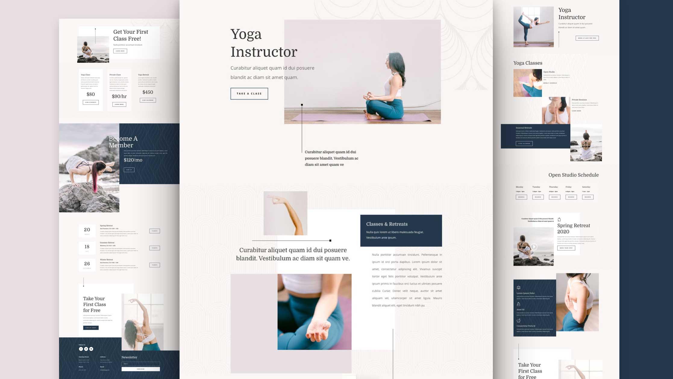 Kostenloses Divi Layout Pack für YogalehrerInnen