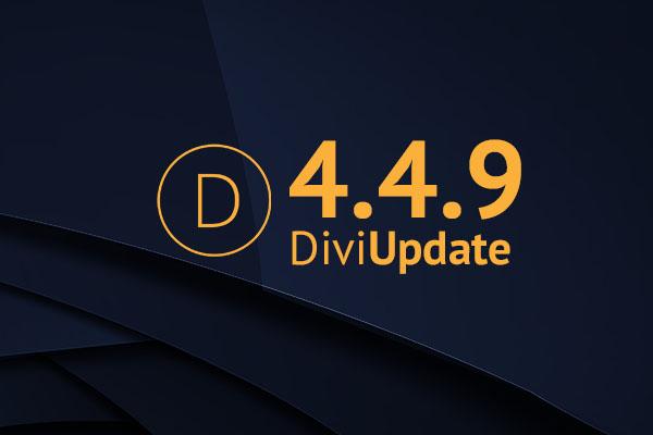Divi Theme Update 4.4.9