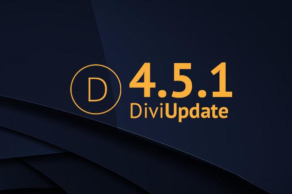 Divi Theme Update 4.5.1