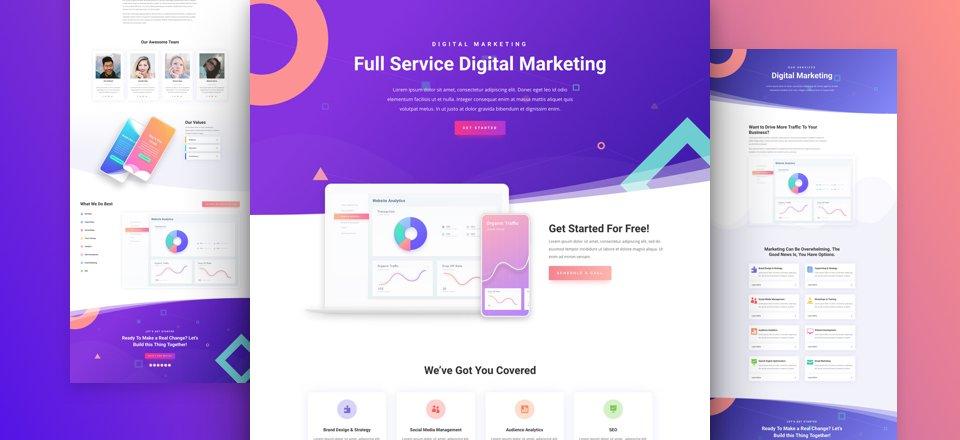 online-marketing-divi-kostenloses-layout-pack