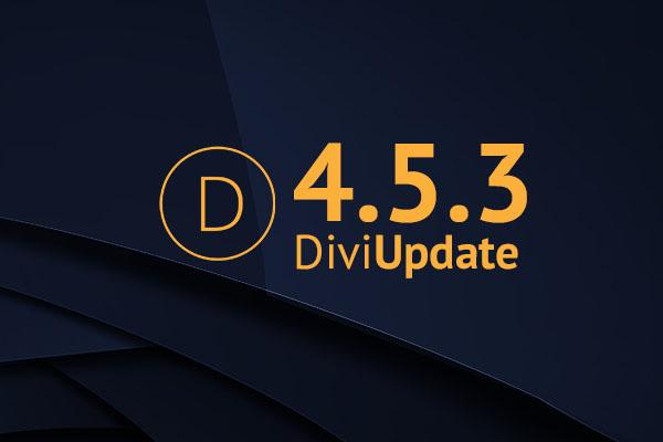 Divi Theme Update 4.5.3
