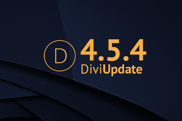 Divi Theme Update 4.5.4