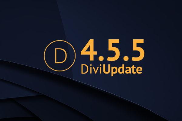 Divi Theme Update 4.5.5