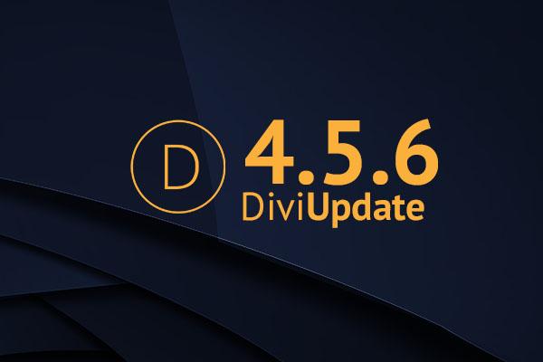 Divi Update 4.5.6