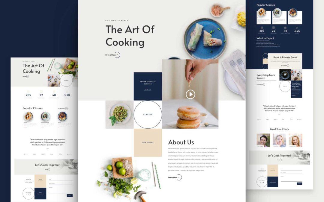 Kostenloses Layout Pack für eine Kochschule
