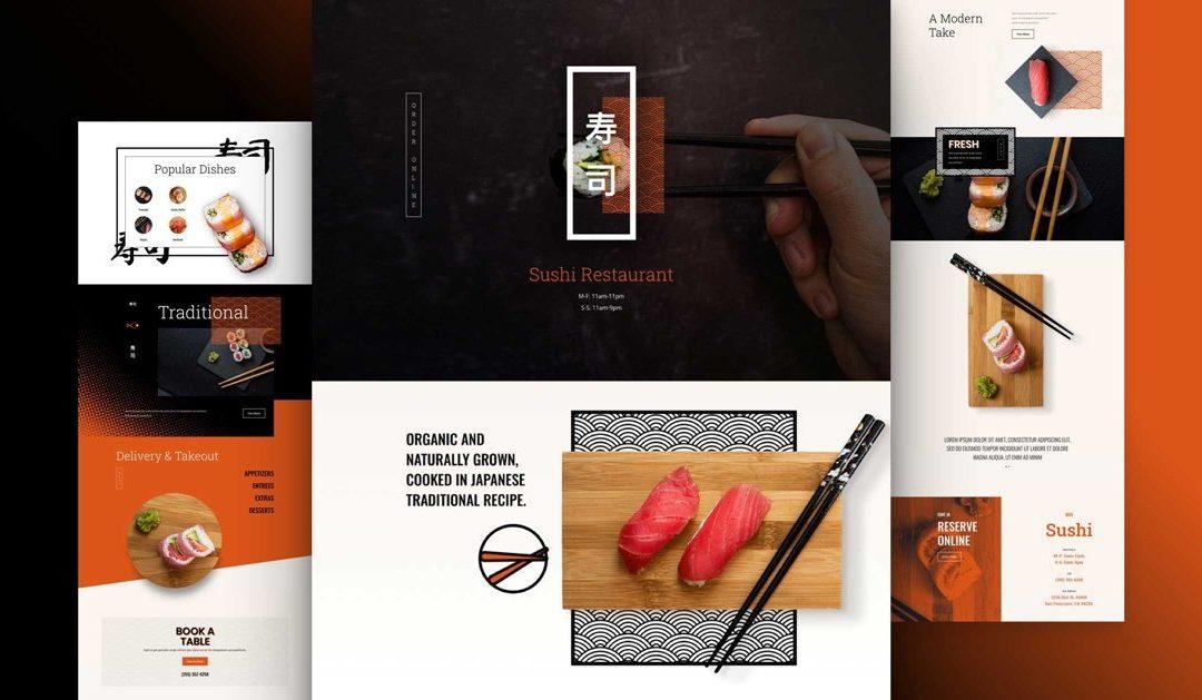 Kostenloses Layout Pack für Sushi Restaurants