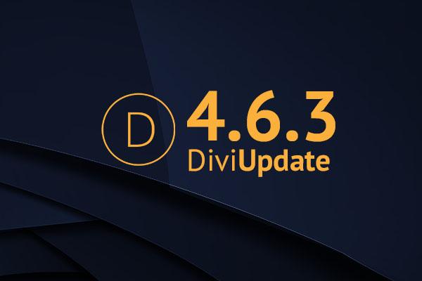Divi Theme Update 4.6.3