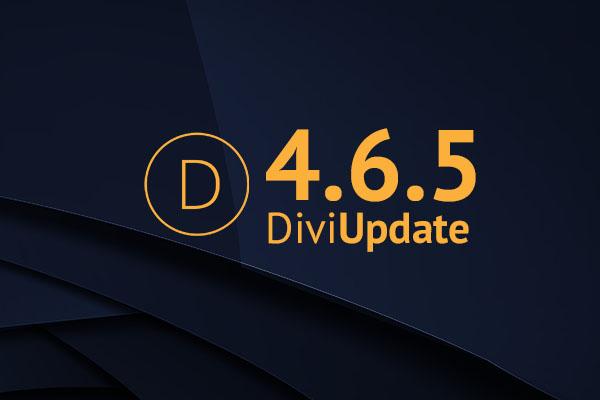 Divi Theme Update 4.6.5