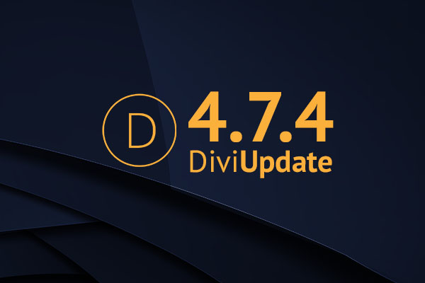 Divi Update 4.7.4