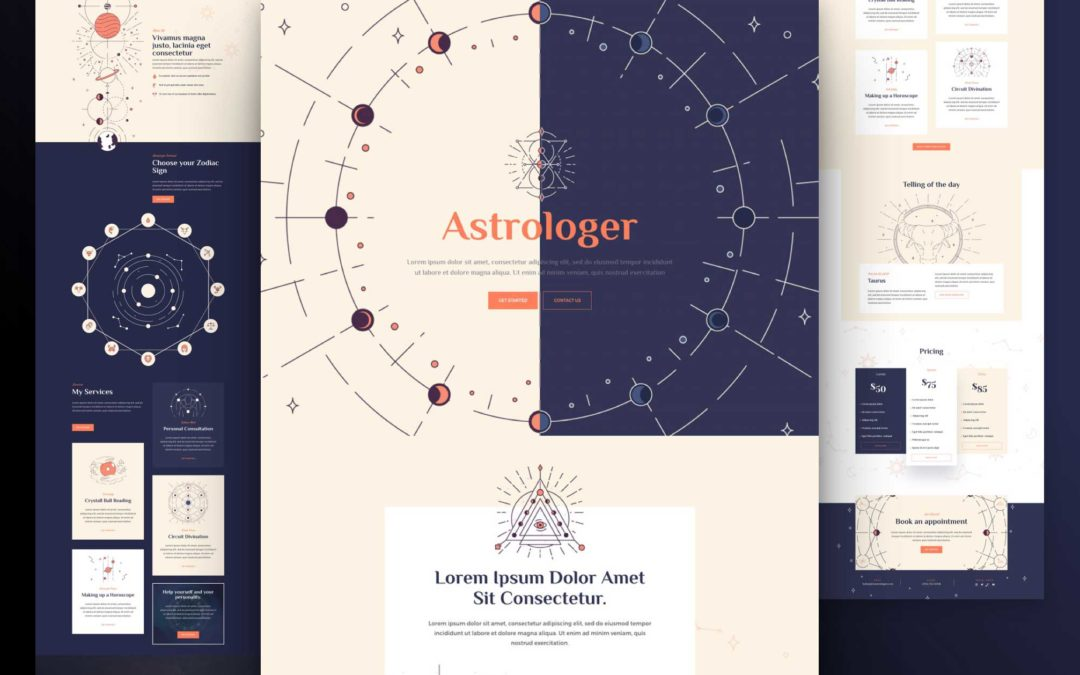 Kostenloses Astrologie Layout Pack